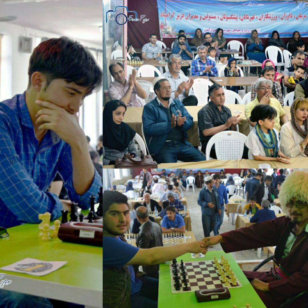 مسابقات شطرنج جام سقلی در بندرترکمن برگزار شد