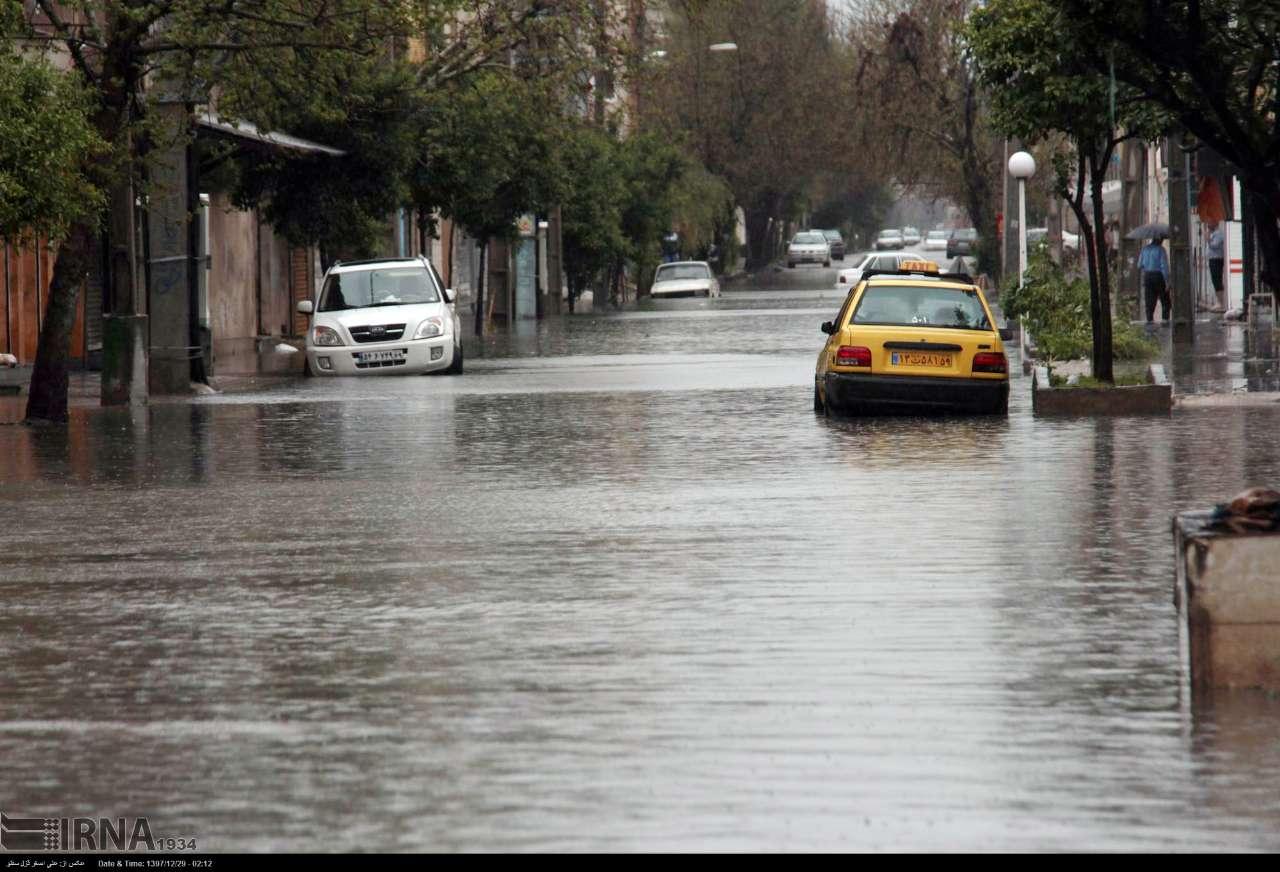 سیلاب در گنبدکاووس