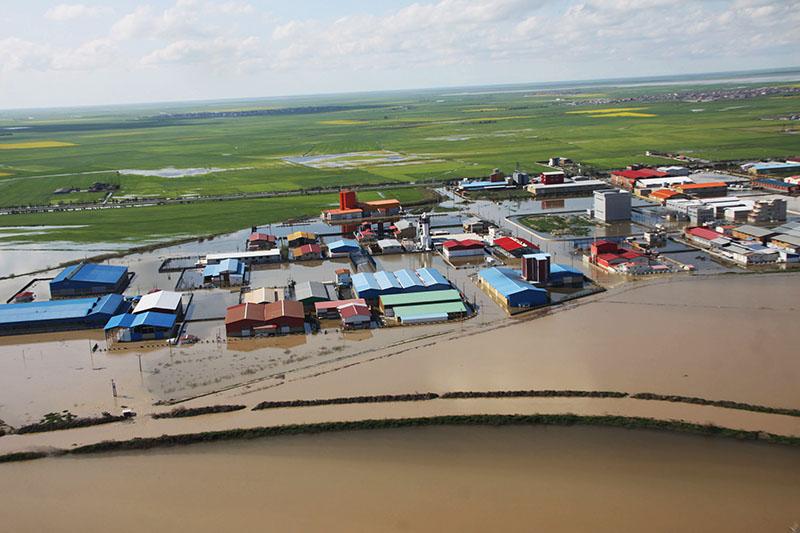 شهرک صنعتی آق قلا در زیر آب و رسوب