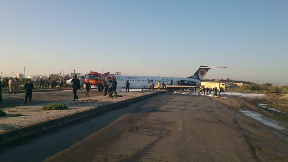 حادثه برای هواپیمای مسافری در ماهشهر (فیلم و عکس)