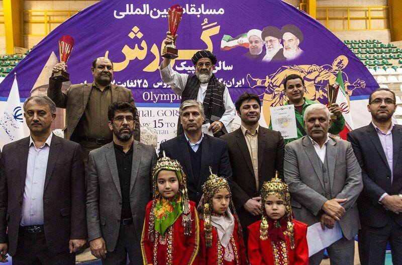 افغانستان قهرمان مسابقات بینالمللی کشتی گورش در گنبدکاووس شد