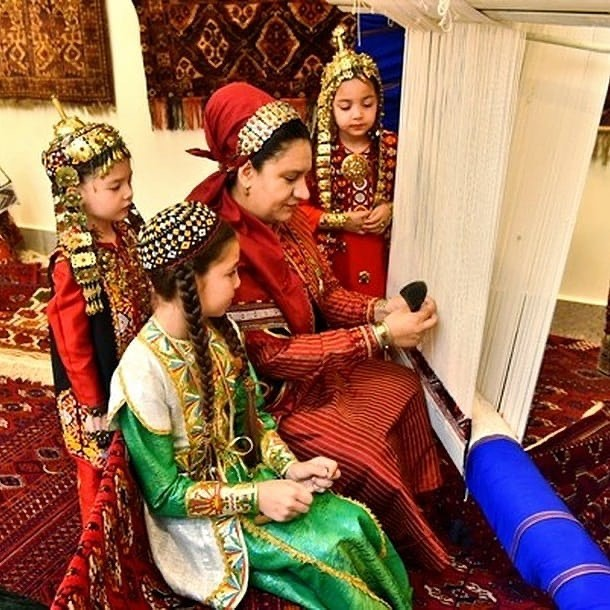 قوروما، دار قالی ترکمن